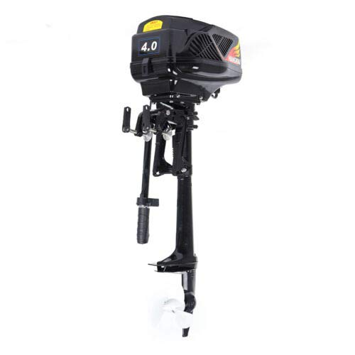 HANGKAI 4 HP Outboard Motors Boat Engine,Heavy Duty Electric Outboard Motor Inflatable Boat Engine System for Fishing Boats, Sailboats, and Small Yachts 48V 1000W USA Stock