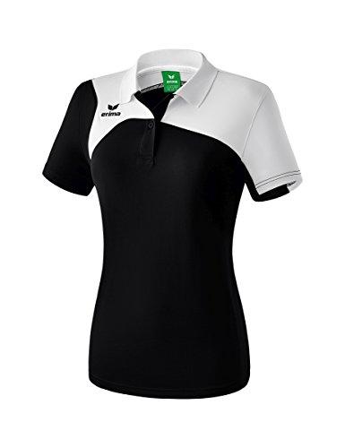 Erima Damen Club 1900 2.0 Polo, schwarz/Weiß, 38