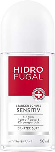 Hidrofugal Sensitiv Roll-On, Deo-Roller mit sanftem Duft, hochwirksames Anti-Transpirant mit antibakteriellem Schutz und Panthenol für sanfte Achselpflege, 50 ml