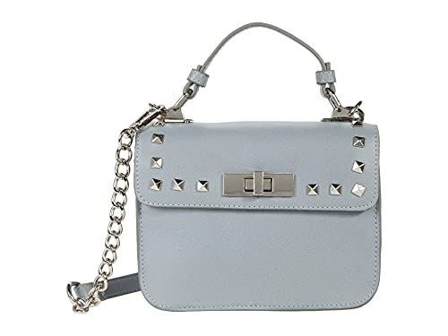 Steve Madden Bsantiago Top-Handle Crossbody with Studs Blue One Size