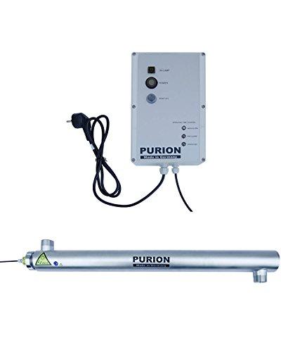 PURION 2501 Sistema UV Limpieza de Piscinas de Agua Clara Luz Ultravioleta Acero Inoxidable con monitorización de por Vida