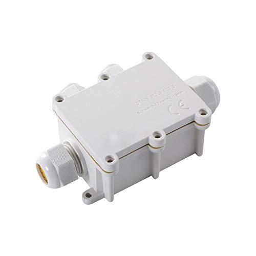 WFBD-CN Batterieklemmen Im Freien Wasserdichten Anschlussdose IP68 Unterwasser-Wiring Weiß Anschluss Enclosure EIN in DREI Out Box mit Klemme (Color : Suit for 9 12mm Wire)