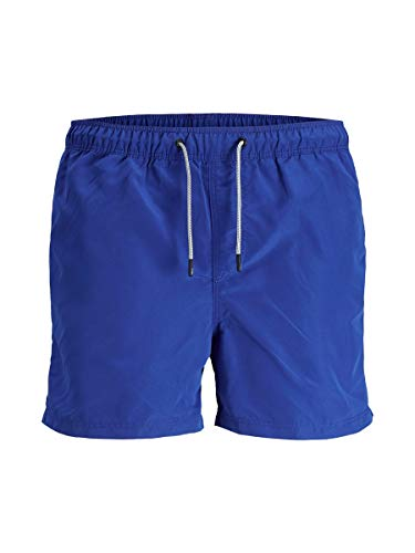 JACK & JONES Herren Jjiaruba Jjswim Shorts Akm Sts Badehose, Surf The Web, S EU