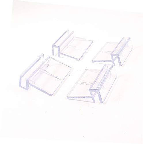 X-Dr 4 Stück klar Aquarium Glasabdeckung Clip Unterstützung Halter 6mm (ecfb503215a95cfc52cc4d2982aa2e63)