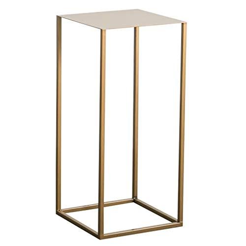Mesa auxiliar minimalista/soporte de flores de hierro forjado, proceso de cocción de alta temperatura, tacto delicado, ligero y fácil de llevar, dorado, tamaño opcional