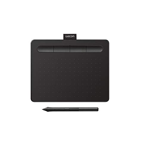 Wacom CTL4100 Intuos Graphics Drawing Tablet with Software, 7.9' X 6.3', Black,...