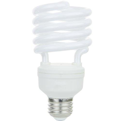 Sunlite 00633-SU Mini Spiral CFL Bulb, 26 Watts (100W Equivalent), Medium Base (E26), 1800 Lumens, 10,000 Hour Life Span, UL Listed, 1 Pack, 65K - Daylight
