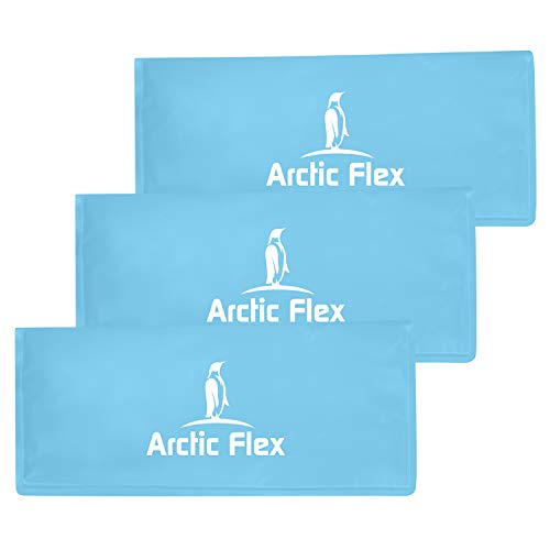 Arctic Flex Gel Replacement Packs - Sized for Knee Ice Brace - Cold and Hot Therapy for Injuries, Pain Relief, Swelling - for Reusable Compression Wrap - for Athletic Injury, Women and Men