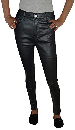 m.g.fashion Damskie spodnie ze streczu skinny Style, wysoka talia, z podszewką