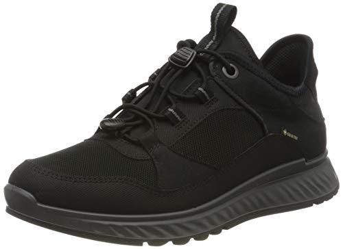 Ecco Damen EXOSTRIDEW Sneaker, Schwarz (Black 1), 41 EU