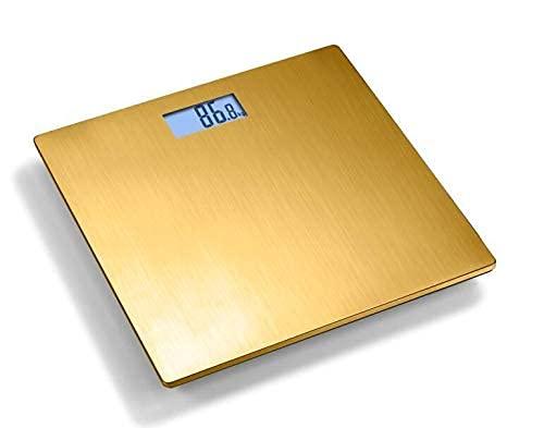 Escala de pesaje Baño de baño Peso corporal Escala de pesas Smart Hogar Electrónico Digital LCD Retroalimentación Visualización 180kg Escala de peso Escala electrónica (Color: marfil) WDH666
