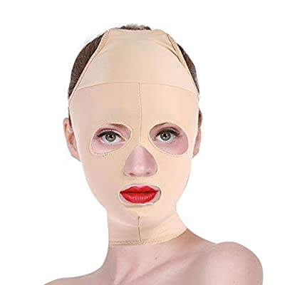 Face Lifting Slimming V Face Mask Full Coverage Bandage Reduce Facial Double Chin Care Weight Loss Beauty Belt(M)