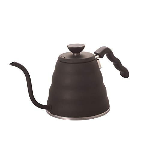 Hario VKB-100HSV V60 Bouno Kaffeetropfkessel Schwanenhals Stovetop Black (1.2L/ 1200 ml) schwarz