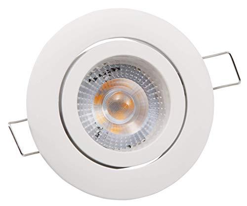 McShine Lámpara LED empotrable para Techo, Blanco neutro, 4000 K, weiß, Step-Dimmung