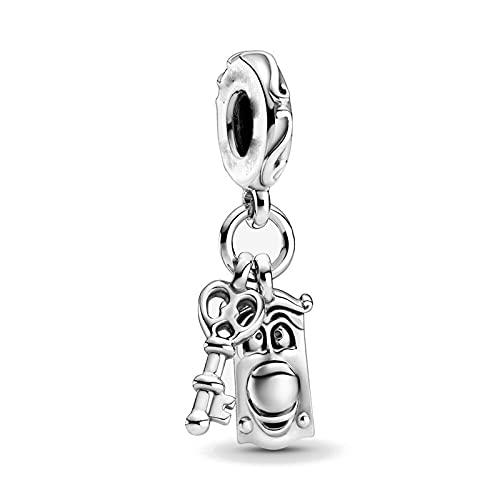 Pandora Fashion 925 Charm Silver Color Key Lock Diy Bead Se Adapta A Pulseras Europeas Accesorios De Joyería