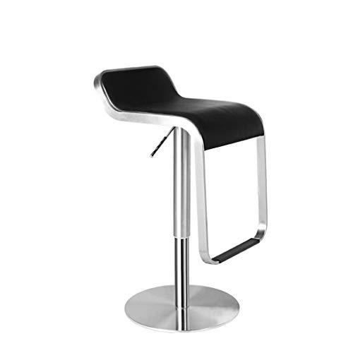HYLH Barhocker Home Barhocker, Edelstahl Lift Bar Chair Einfache Mode Drehsessel Höhenverstellbar Mit Armlehnen Hocker