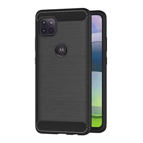 AICEK Hülle Compatible Motorola Moto G 5G Schwarz Silikon Handyhülle für Moto G 5G Schutzhülle Karbon Optik Soft Hülle (6,7 Zoll)