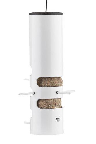 Zone Outdoor Rio 8211900 - Metalen cilinder wild vogel vet bal feeder in wit