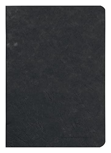 Clairefontaine 733101C Heft AgeBag (DIN A5, 14,8 x 21 cm, blanko, ideal für Ihre Notizen und Zeichnungen, 48 Blatt) 1 Stück schwarz