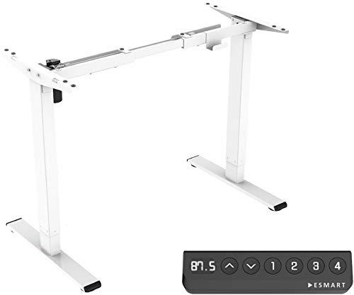ESMART ELX-121W Bianco Struttura ergonomica stand-sit-write-table Regolabile elettricamente all'infinito in altezza 71-121cm 4x memoria Avvio/arresto morbido Protezione dalle collisioni