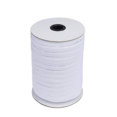 Weiß Gummiband 91 Meter Elastisches Band für Nähen und Haushalt DIY Handwerk