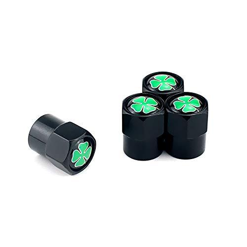 4 unids / set Válvula de neumáticos Tallos Tapa de 4 hojas Cuero de la aleación de la aleación Air Trye Caps a prueba de polvo Para la mayoría de los autos Lluvias de ruedas de automóviles Válvulas Vá