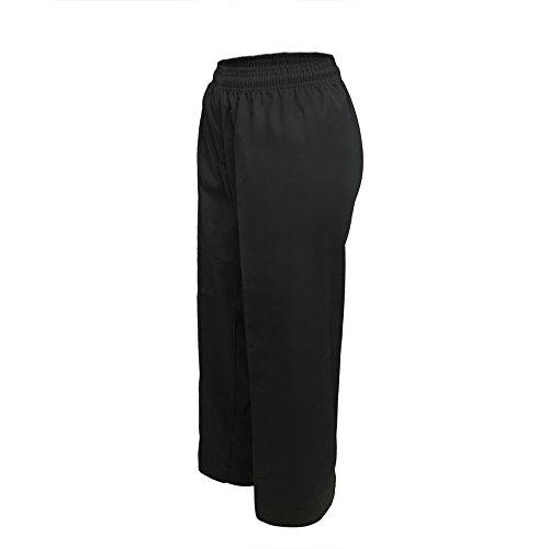 TOPTIE Pantalon de Taille élastique pour étudiant de Karaté Noir Size 6
