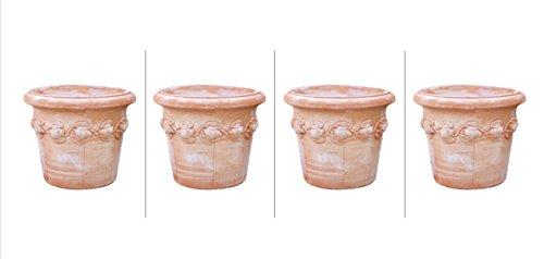 Bloempot plantenbak pot Italiaans terracotta FROSTFEST Siena Conca Limoni XXL 80 cm Limoni