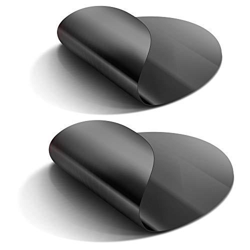 2 x antihaft Dauer-Bratfolie für Pfannen mit Ø 24cm und 28cm (Bratfläche ca. 18-19cm und 23-24cm) wiederverwendbar, optimal für gesunde Ernährung, Diät, Kochen und Backen, Braten ohne Fett