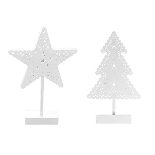 Uonlytech 2 stücke led weihnachtsbaum stern licht tischlampe künstliches nachtlicht für home party hochzeit festival