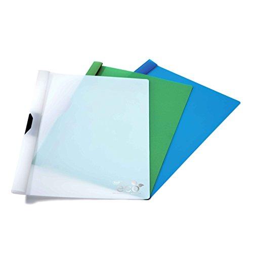 Rapesco 1100 Raccoglitore con Clip Ecologico A4, 10 Pezzi, Colori Assortiti