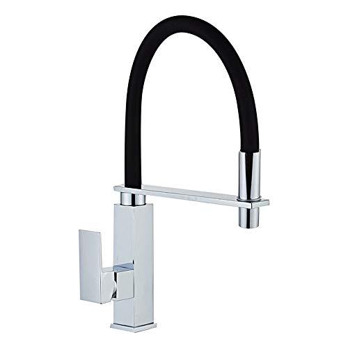 Grifo Faucet (agua); grifo; BIBCOCK All-Cobre Cocina Faucet de agua caliente y fría Fraucet All-Cobre Fregadero Fregadero, giratorio Universal Tubería de cuero negro, fregadero giratorio, Faucet de la