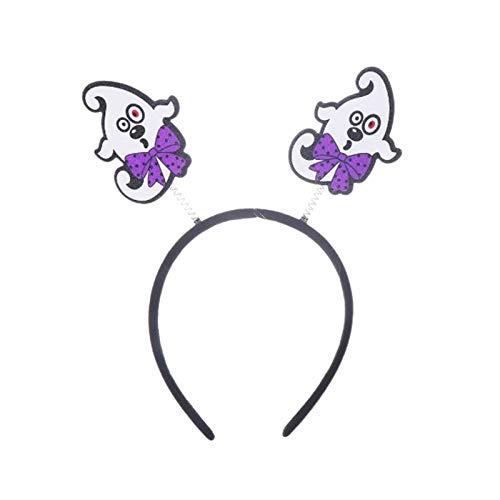 Nrpfell Diademas de Halloween Hebilla Fantasmal Maquillaje Accesorios Decorativos Accesorios para el Cabello Tocado (Fantasma)