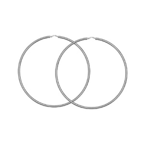 FranceBijoux-Orecchini a cerchio da donna in argento massiccio 925° ° °, 80 mm, nuove