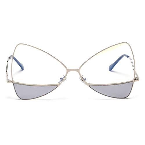 MIRCHEN mannen vrouw zonnebril kattenoog tweekleurige lens vlinder zonnebril vrouwen zonnescherm
