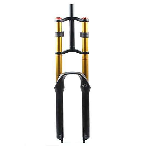 Mountainbike Främre Upphängning Gaffel MTB Upphängningsgaffel Dämpande Gaffel Stötdämpare Resa 130 Mm För Cykeltillbehör 1-1/8 (Color : AIR OPEN, Size : 29in)