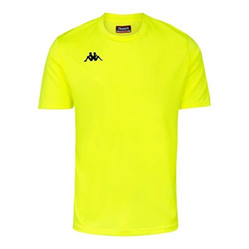 Kappa ROVIGO SS Camiseta de equipación, Hombre, Amarillo Fluor/Negro, 4XL