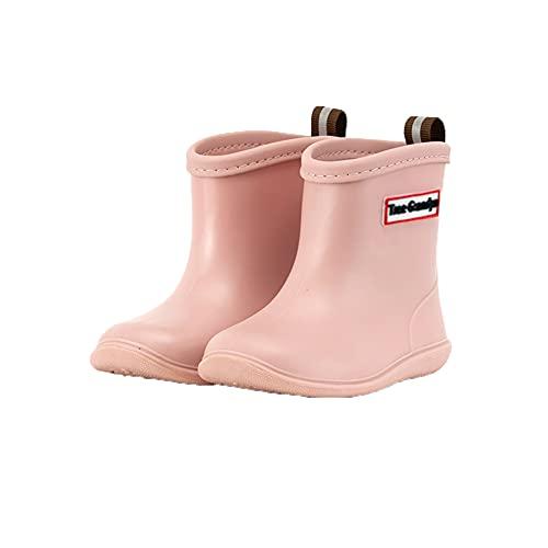 Cicano Botas de lluvia para niños de PVC antideslizantes Botas de lluvia Botas de lluvia Wellies Wellington Zapatos de goma para niños y niñas, color Rosa, talla 22 EU