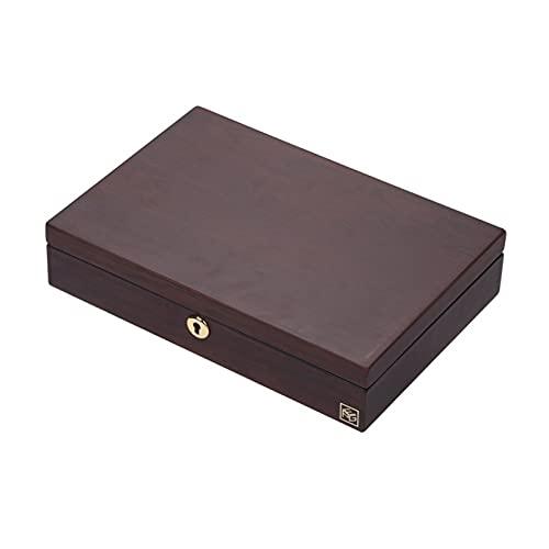 YMOMY Cajas De Regalo De Collar Caja De Joyería De Madera para Anillos Collares Pulseras Pendientes, Mujeres (Color : Dark Red)