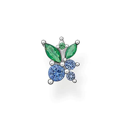 THOMAS SABO Pendientes de plata de ley 925 para mujer, diseño de arándanos de un solo oído H2192-699-7