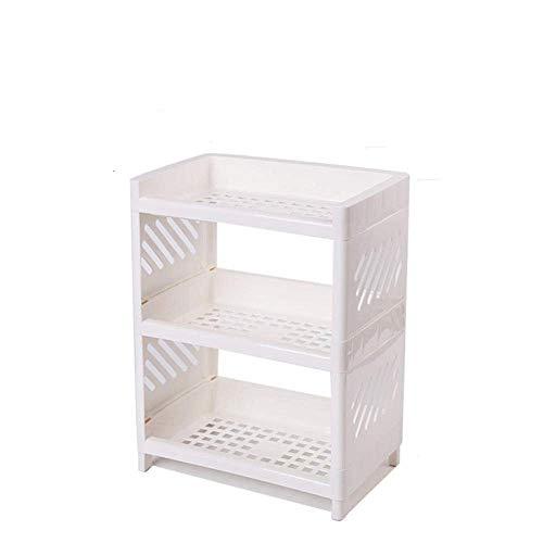 SCDZS Shelf - Baño de validez 3 Capas múltiples Funciones Ajustable de la Capa Storage Manager Baño Cocina Sala de Estar Bracket (Color : White)