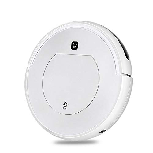 Robot Vacuum, 22W Power Robotic Vacuum Cleaner with Self-Charging, 360° Smart Sensor Protectio, Multiple Cleaning Modes Vacuum Best for Pet Hairs, Hard Floor & Medium Carpet (White)