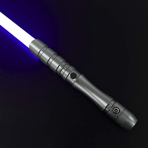 YDDSABER Jedi Sith Metal Hilt Light Saber, Force FX Heavy Dueling, Rechargeable Lightsaber with 3 Mode Sound , High Light with FOC, Blaster (Blue)