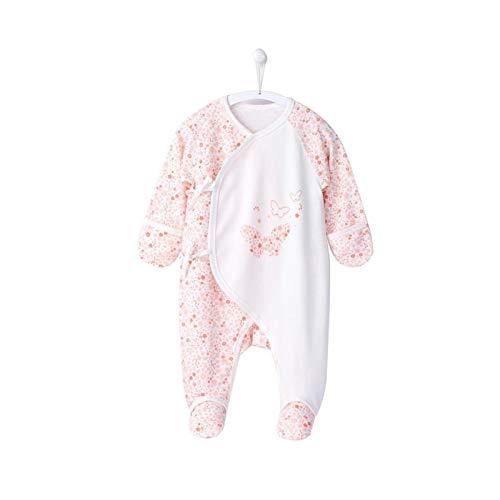 Youpin 100% algodón bebé recién nacido bebé recién nacido 0 6 meses niña mariposa mono bebé Pijama ropa bebé 1 mes (color: rosa, tamaño niño: 0 3 meses)