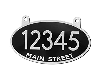 Curb-N-Sign Highly Reflective Hanging Mailbox Address Sign Double Sided Includes Two Screw-in Hooks for Easy Installation 12 Months Warranty  Black