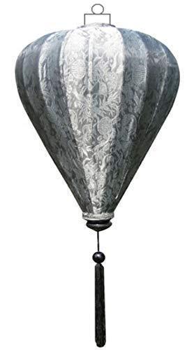 Terrapin Trading Ltd VIETNAMESISCHE Oriental SEIDEN Bambus HANDGEFERTIGTE Laterne Lampe chinesische Silber 9