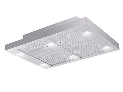 Silverline Vega AC 750 m³/h Dunstabzugshaube, eingebaut in der Decke, Edelstahl – Dunstabzugshaube (750 m³/h, Umluft, 39 dB, Deckeneinbau, Edelstahl, Edelstahl)