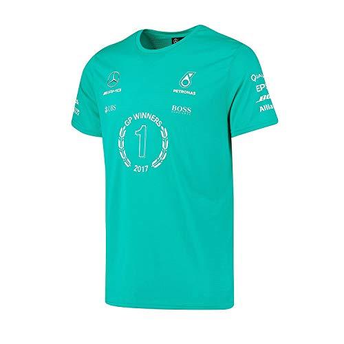 Mercedes AMG Petronas F1 Team Herren T-Shirt Hamilton 2017 Winners Gr. XS, grün