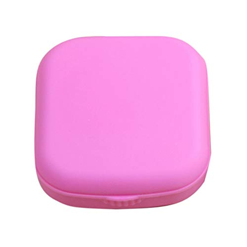 Miwaimao Contact Lens Box Close-Fitting Rod Bottle Screw Portable Shell,Pink