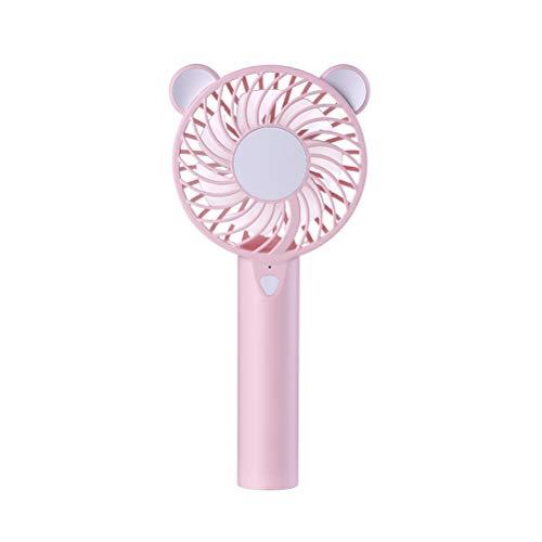LIOOBO Portable Ventilateur USB personnel discret muet Mini ventilateur Ventilateur de style créatif pour les activités de camping en plein air (rose)